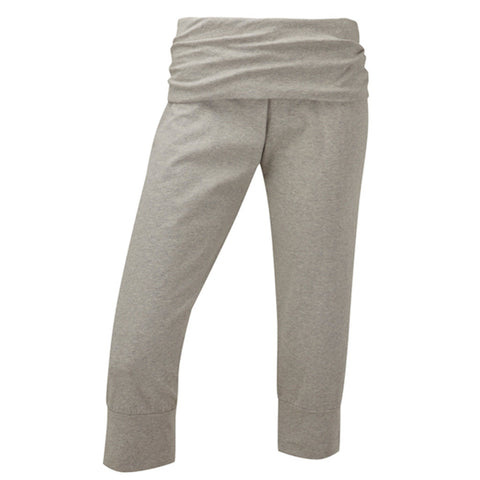 Plus size sportswear - curvy capri light grey marl