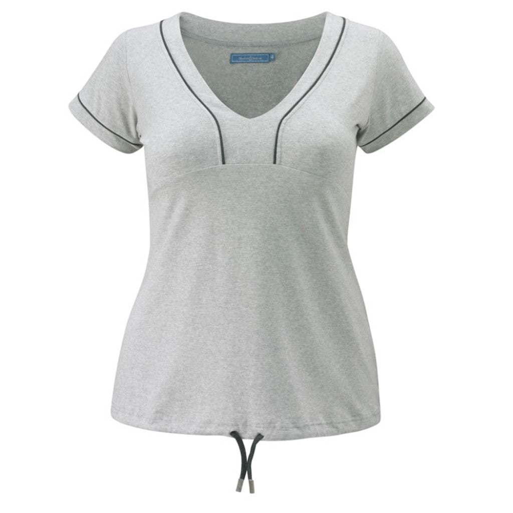 Plus size sportswear - curvy tee in light grey marl