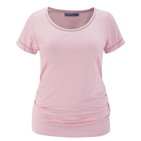 Plus size sportswear - scoop tee in soft pink