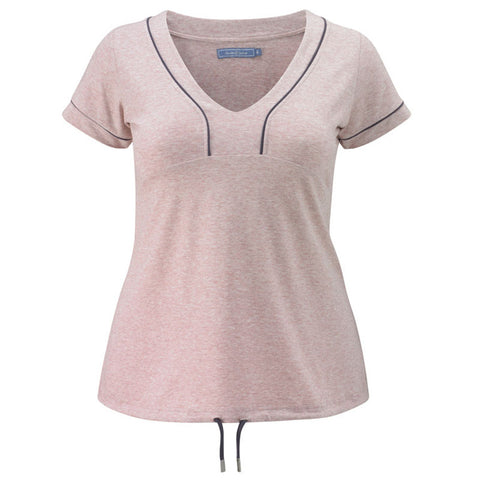 Plus size sportswear - curvy tee in soft pink
