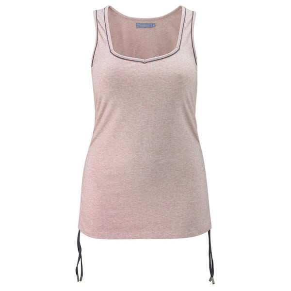 Plus size sportswear - ruched vest in soft pink - unruched