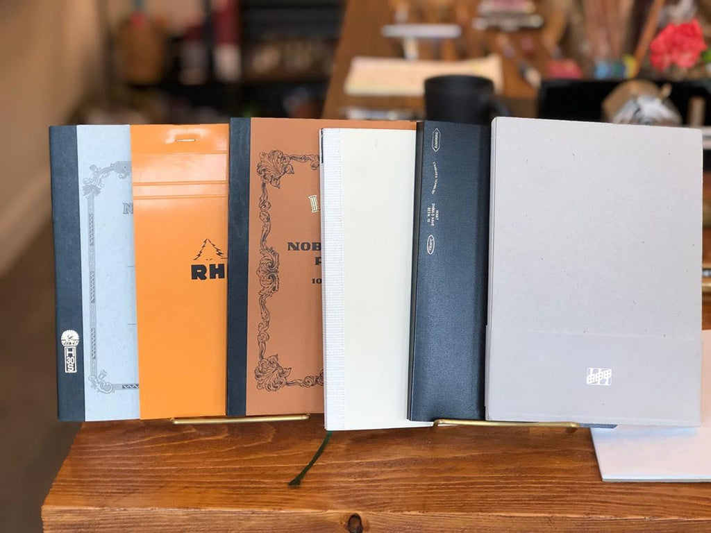Yoseka Notebook among classic notebooks