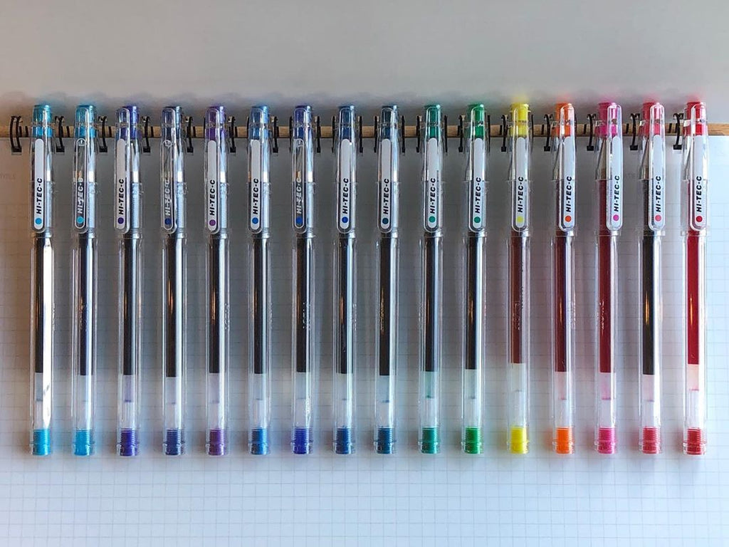 Classic Hi-Tec-C by Pilot and it's 19 colors at Yoseka