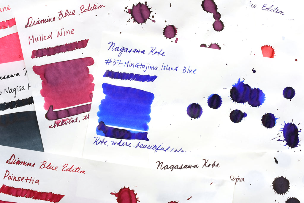 New Tsukineko Ink Pads, Nagasawa Kobe Inks, and Diamine Blue Edition Inks