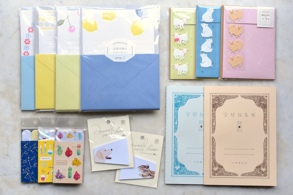 New Diary Notebooks, Letter Sets, and Fun Sticky Notes!