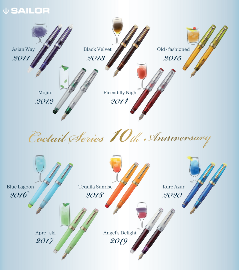 Sailor Cocktail Series Anniversary Set and Kure Azur