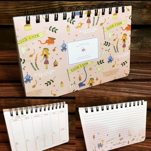 yoseka stationer new The Willow Story Floral Planner planner cute japanese korean taiwanese