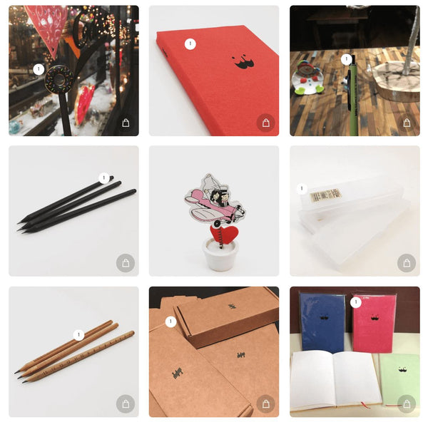 Browse and Shop Yoseka Stationery with Instagram