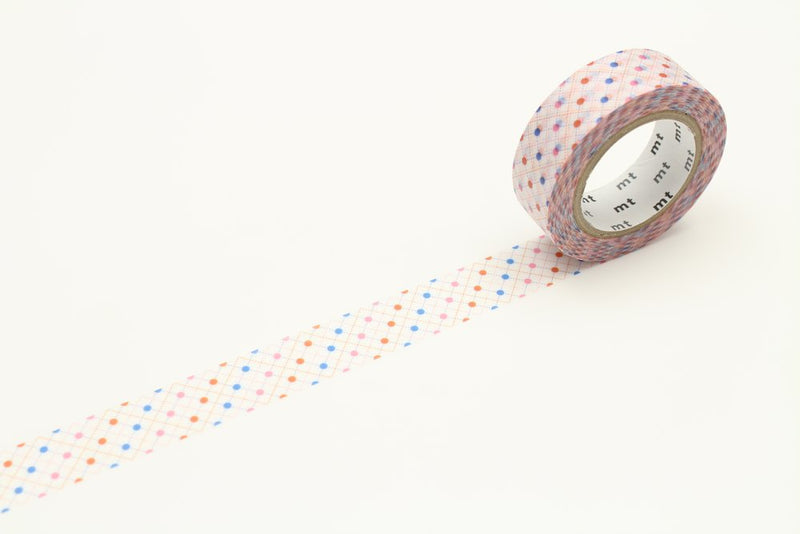 mt Washi Tape - Dashes Hasen Dot Red
