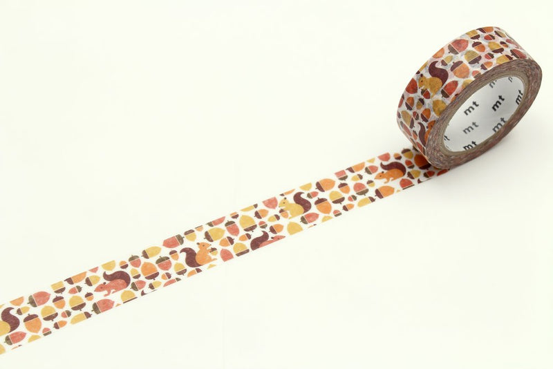 mt Washi Tape - Squirrel and Acorn