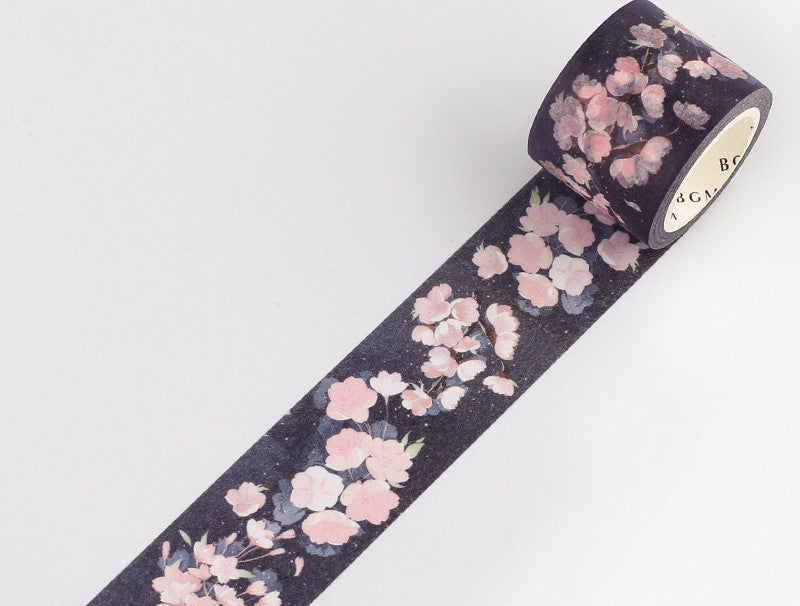 BGM Washi Tape - Cherry Trees At Evening