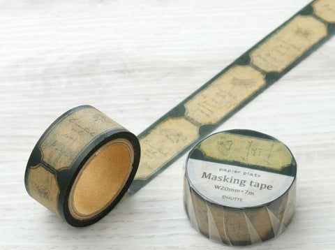 Papier Platz x HUTTE - Oil Label Black Masking Tape