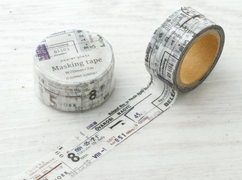 Papier Platz x SUNNY SUNDAY - Combination Masking Tape