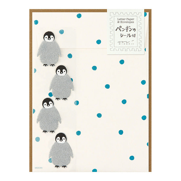 Mini Letter Set with Penguin Stickers