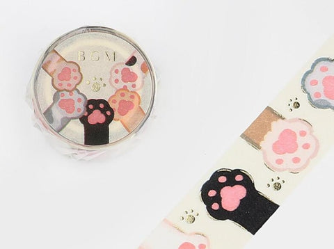 BGM Washi Tape -  Cat Paws