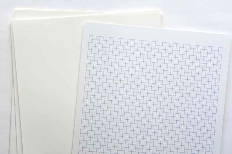 Yamamoto Paper Cosmo Air Light Loose Leaf Paper - White - A4 - Blank