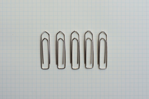 Nickel Plated Paper Clips - Size 5