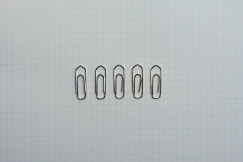 Nickel Plated Paper Clips - Size 3