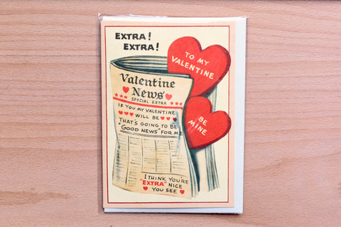 Extra Extra Valentine's Day Greeting Card