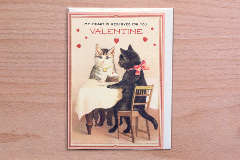 Valentine Cats Greeting Card