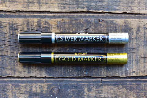 Pilot Gold & Silver Metallic Paint Marker - Medium