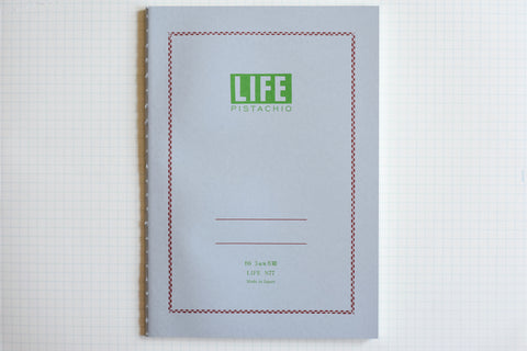 Pistachio Notebook - B6 - Grid