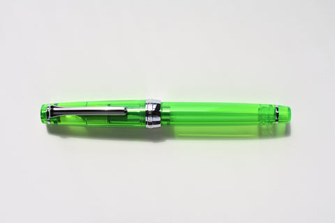 Sailor Pro Gear Slim Transparent - Green/Silver