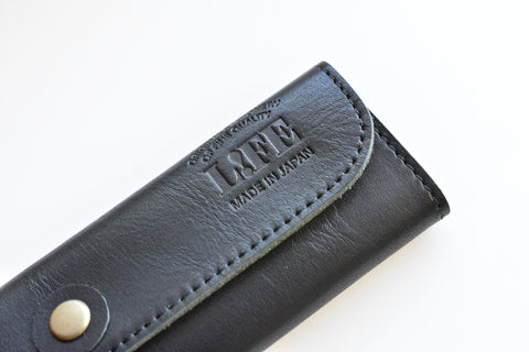 Life Leather Folding Pen Sleeve Pouch - Black