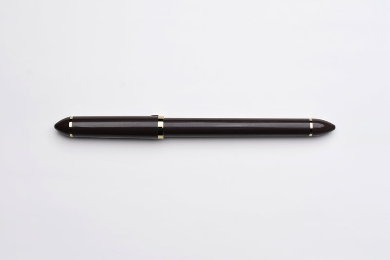 Sailor Fude DE Mannen Brush Style Fountain Pen - Pearl Brown