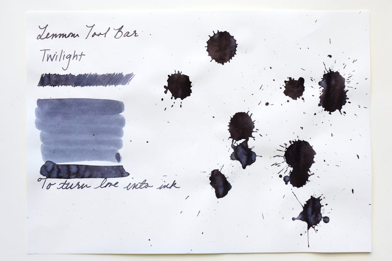 Ink Sample - Lennon Tool Bar - Atmospheric Color Waterproof