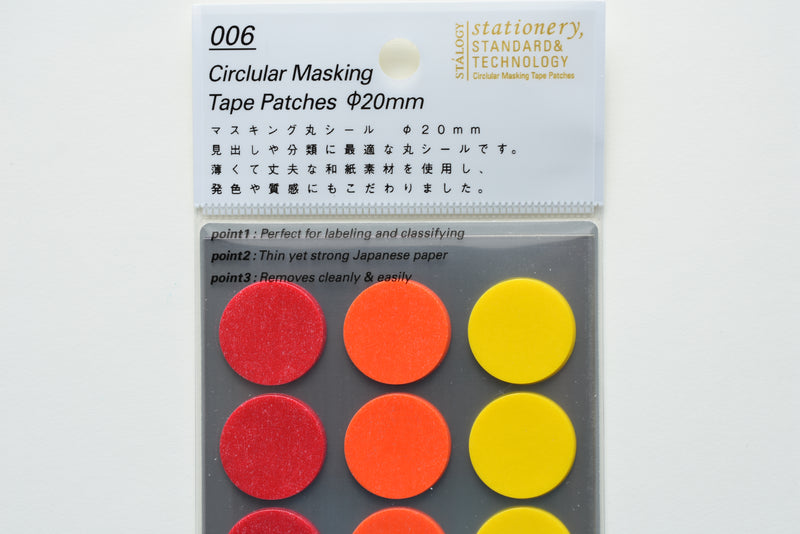 Stalogy Circular Masking Tape Patches 20mm - Shuffle Fine