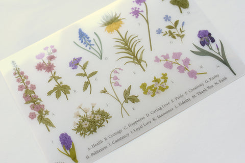 MU Print-On Stickers - Flower Sign - #127