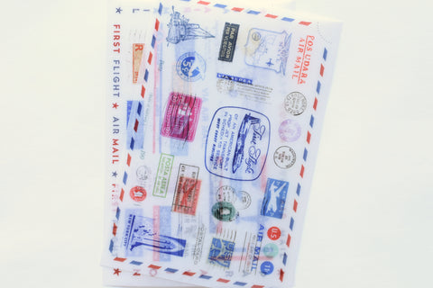 MU Print-On Stickers - Air mail - #130
