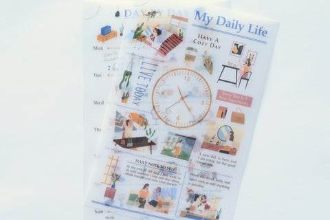 MU Print-On Stickers - My Daily Life - #135