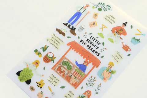 MU Print-On Stickers - Little Sprout Big Dreams - #136
