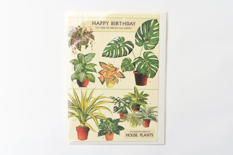 Happy Birthday House Plants Greeting Card