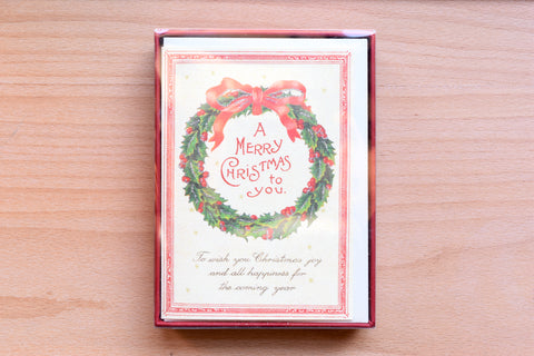 Christmas Wreath Boxed Notes