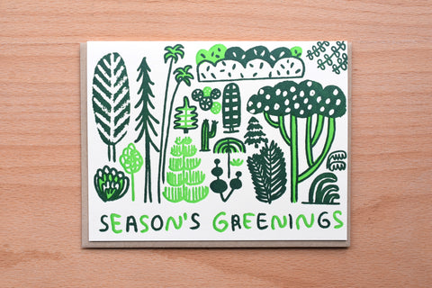 Season's Greetings Green Plants