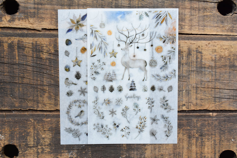 MU Print-On Stickers - Wintry Greetings - #102