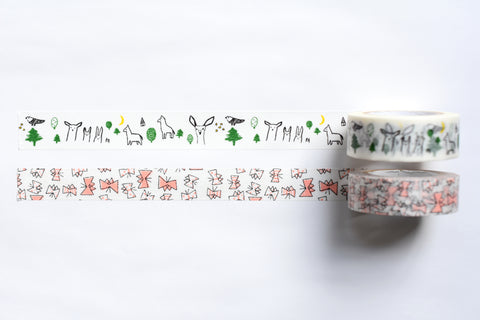 Classiky - Irago Tomomi Masking Tape - Forest and Butterfly - Set of 2