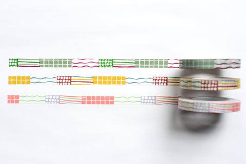 Classiky - Mihoko Seki Textile Masking Tape - 8mm - Set of 3
