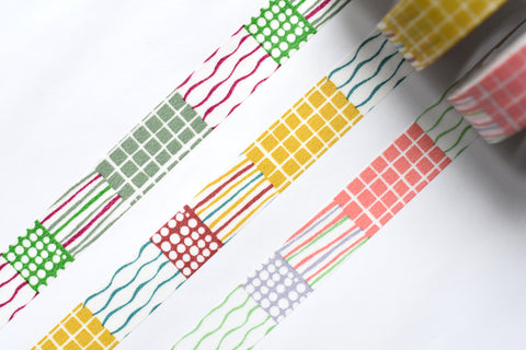 Classiky - Mihoko Seki Textile Masking Tape - 15mm - Set of 3