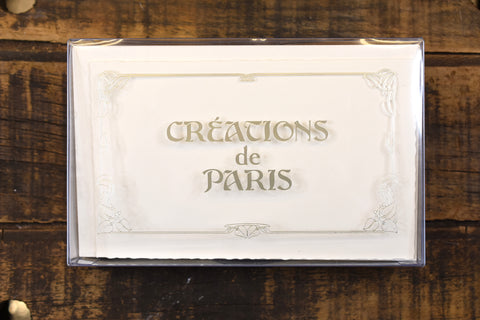 Créations de Paris Deckled 12 Note Card Boxed Set