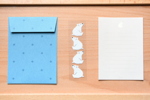 Mini Letter Set with Polar Bear Stickers