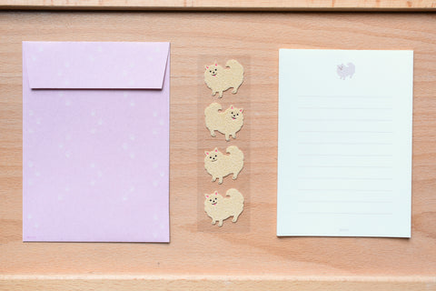 Mini Letter Set with Pomeranian Stickers