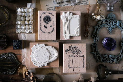 LCN Dried Flower Stamp Set F