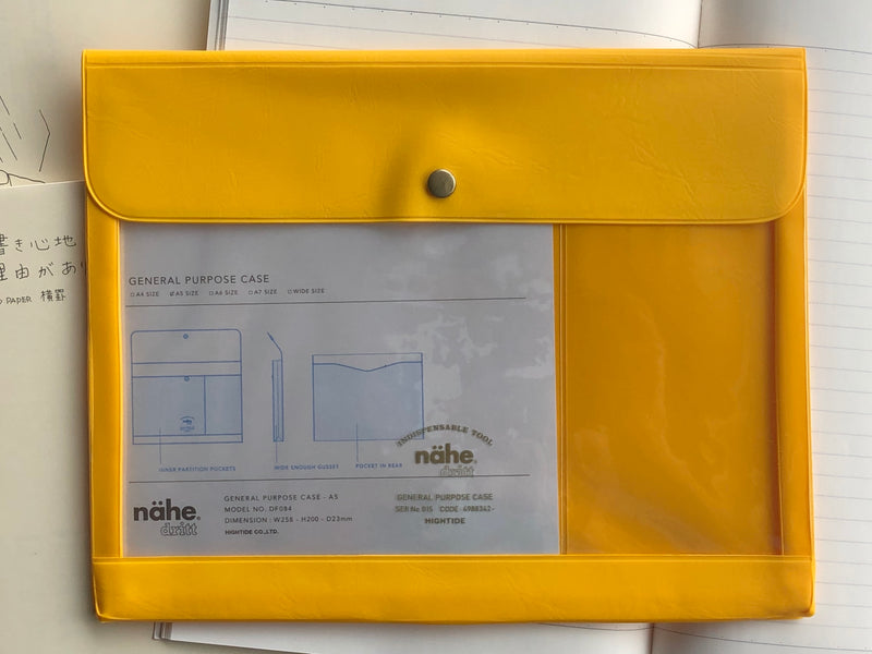 Nähe General Purpose Case - A5 - Yellow