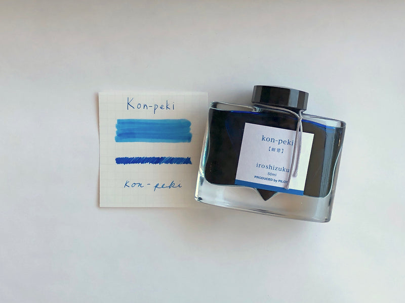 Pilot Iroshizuku Ink - Kon-peki - 50 mL Bottle Ink