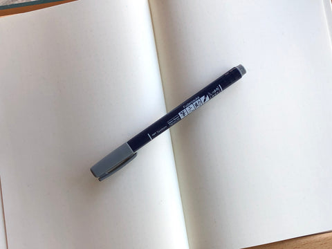 Fudenosuke Brush Pen - Grey