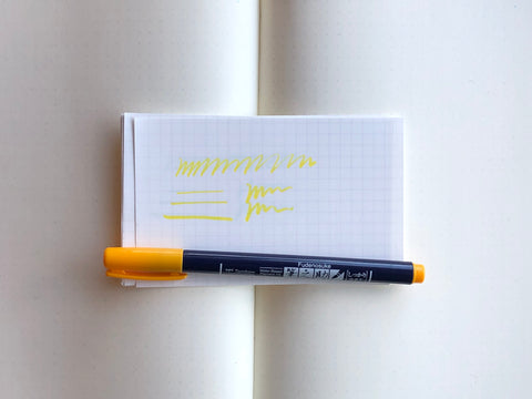 Fudenosuke Brush Pen - Yellow